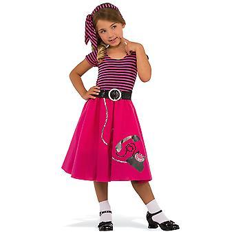 50s Girl Rock N Roll Grease Hairspray Old School Retro Book Week Girls Costume