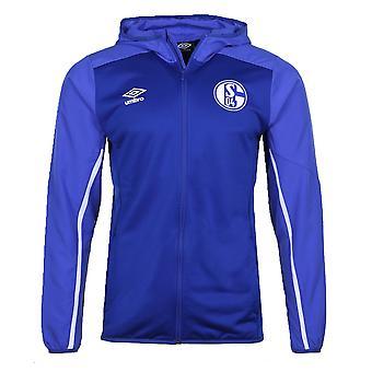 2019-2020 Schalke Umbro Hooded Jacket (Blue)