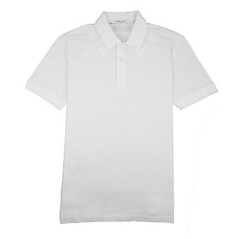 Givenchy Star Embroidered Polo Shirt White