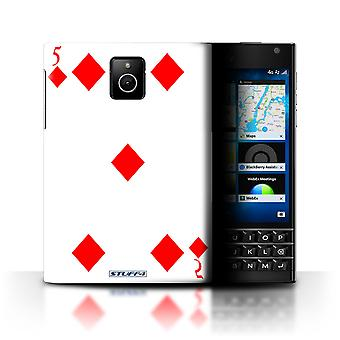 STUFF4 Case/Cover for Blackberry Passport/5 of Diamonds/Playing Cards