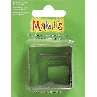 Makin's Clay Cutters 3 Pkg Square M360 2