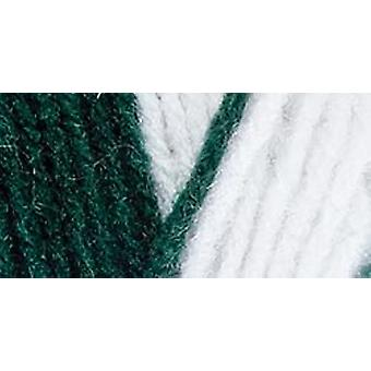 Red Heart Team Spirit Yarn Green White E797 968