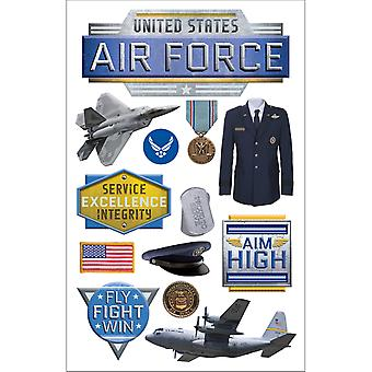 Paper House 3D Stickers Air Force Stdm216e