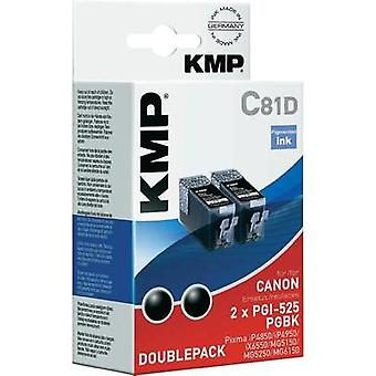 KMP Ink replaced Canon PGI-525 Compatible Pack of 2 Black C81D 1513,0021