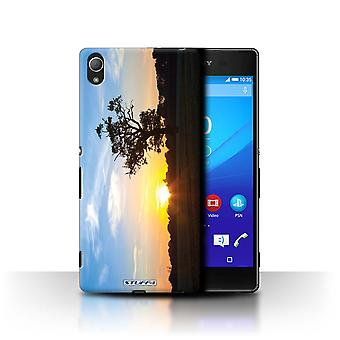 STUFF4 Sag/Cover til Sony Xperia Z4/Oak Tree blå/Sunset natur