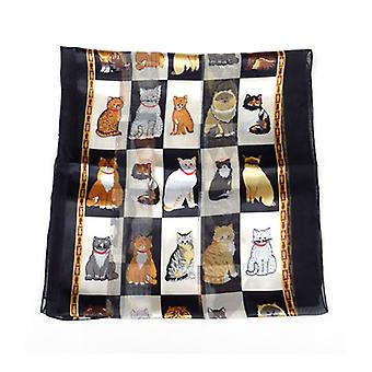 Cats in a Box Ladies Scarf Black