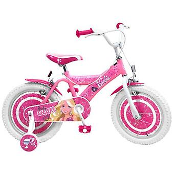 Stamp Barbie bike 16  with training wheels and brakes Nylon