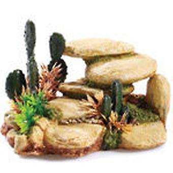 Classic For Pets White Stone/Cactus 165mm (Fish , Decoration , Rocks & Caves)