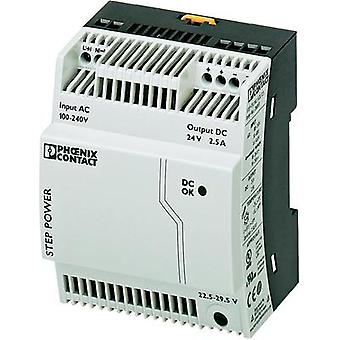 Rail mounted PSU (DIN) Phoenix Contact STEP-PS/1AC/24DC/2.5 24 Vdc 2.75 A 60 W 1 x
