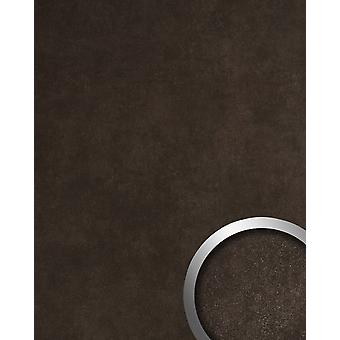 Wall Panel natural stone look WallFace 19093 CERAMIC BROWN decor Panel structured in stone look matt self-adhesive Brown Black Brown 2,6 m2