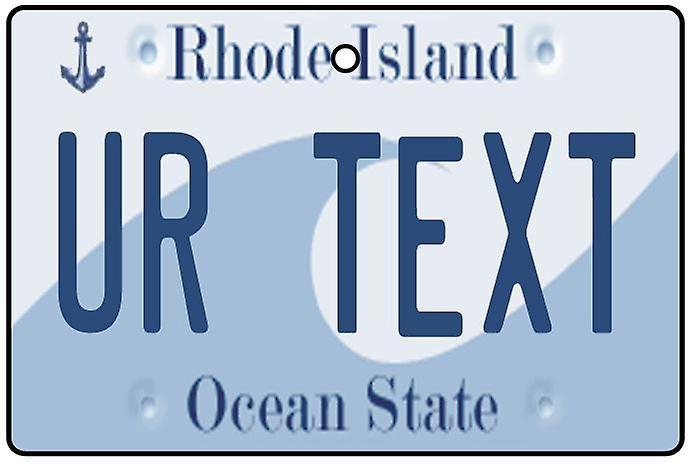 Ambientador de aire de coche de matrícula personalizada Rhode Island