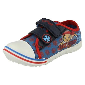 Boys Disney Jake and the Never Land Pirates Treasure Canvas Shoe