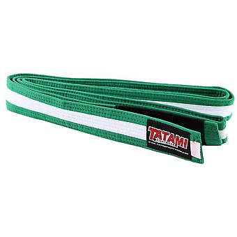 Tatami Fightwear Kids BJJ Rank Green/White Belt