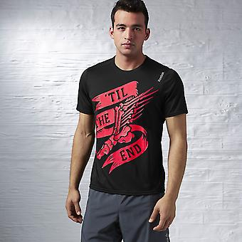 Reebok 'Til slutet kör Essentials T-Shirt-svart