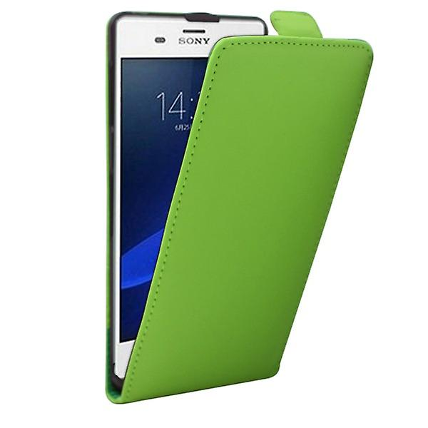 Fliptasche Deluxe green for Sony Xperia Z3 D6653 L55T