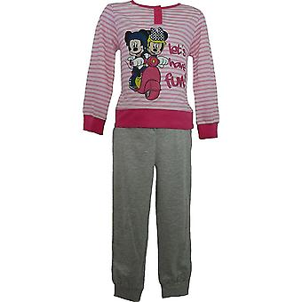Girls Disney Minnie Mouse Long Sleeve Pyjamas ME2092