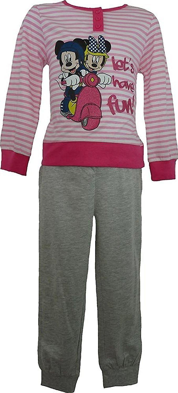 Mädchen Disney Minnie Mouse Langarm Schlafanzug ME2092