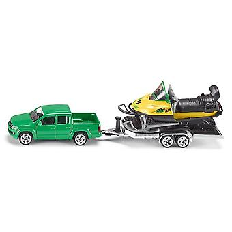 Siku Car With Trailer And Snowmobile (Toys , Vehicles And Tracks , Mini Vehicles , Cars)