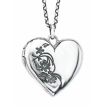 925 Silver Photo Flower Pendant Necklace