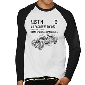 Haynes Workshop Manual 0164 Austin Allegro Black Men's Baseball Long Sleeved T-Shirt