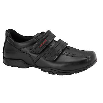 Hush Puppies Boys Mike School Shoes Black F Fitting