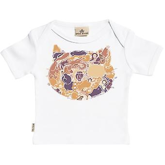 Spoilt Rotten Cat Print Short Sleeve Baby T-Shirt