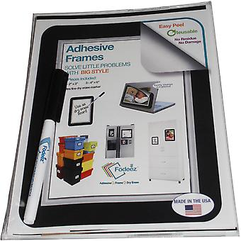 Adhesive Display Frames - Designer Assortment 6/Pkg-Beveled Silver 2346VIN-BEVSI