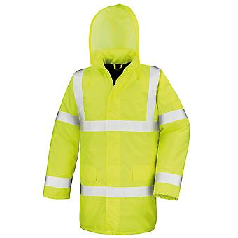 Result Core High-Viz Motorway Coat (Waterproof & Windproof)