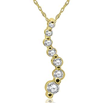 1 / 2ct Diamond Journey hanger 14K Yellow Gold