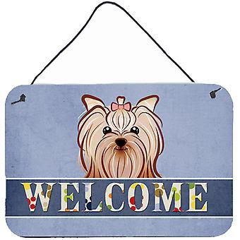 Yorkie Yorkishire Terrier Welcome Wall or Door Hanging Prints