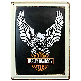 Superstudio Cuadro de metal impreso vintage harley cycles 30x40-