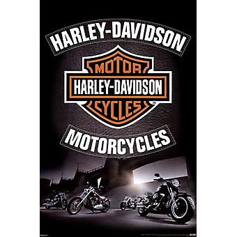 Harley Davidson - Leather Poster Poster Print