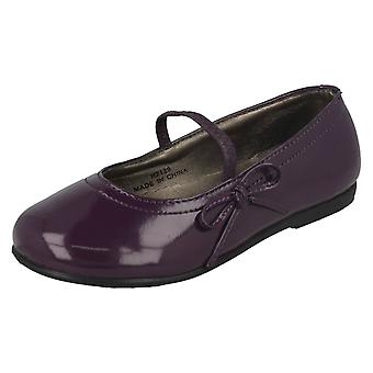 Girls Spot On Flat Shoes With Bow Trim