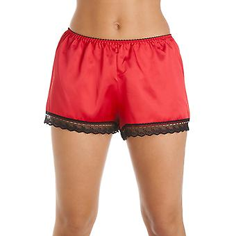 Camille Luxury Red Satin French Knicker Shorts
