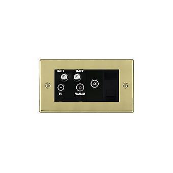Hamilton Litestat Hartland Polished Brass TV+FM+2XSAT+TVF+TCS BL