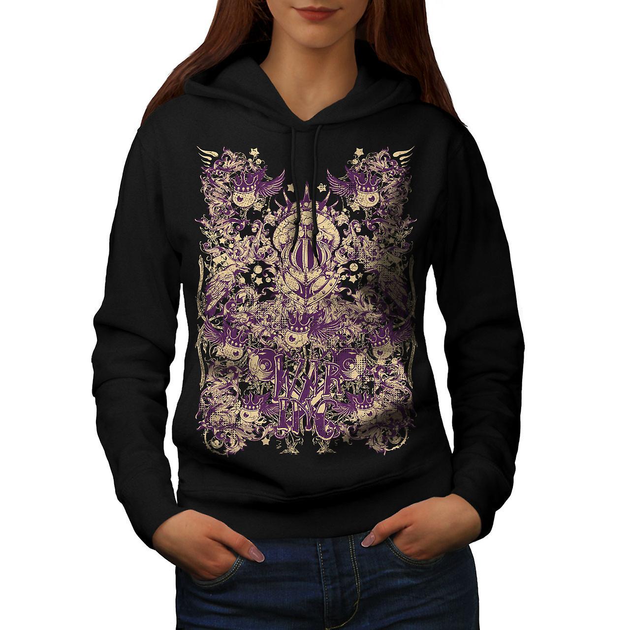 War Inc. Zombie Fashion Women Black Hoodie | Wellcoda