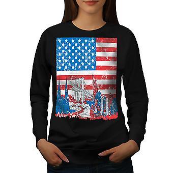 Flag Amerika New York USA kvinder BlackSweatshirt | Wellcoda