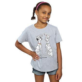 Disney Mädchen 101 Dalmatiner Klassiker Pongo und Perdita T-Shirt