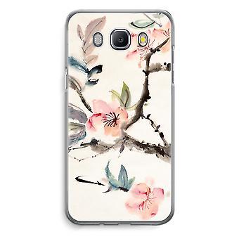 Samsung Galaxy J5 (2016) Transparent Case - Japenese flowers