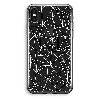 iPhone X Transparant Case - Geometric lines white