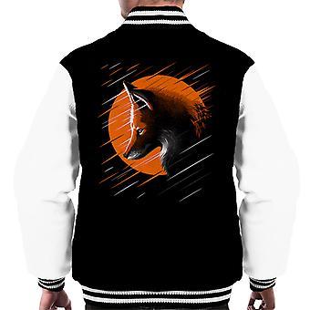 Fox Orange Moon Men's Varsity Jacket