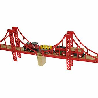 Bigjigs en bois Double Suspenion Pont-rail