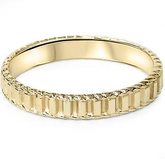 ك 14 يد الذهب الأصفر مزين الزفاف الفرقة