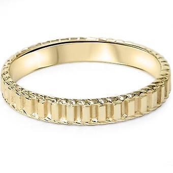 14K amarillo oro mano trenzado banda de boda