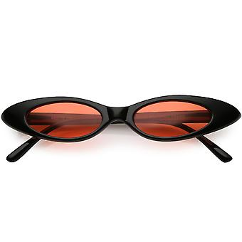 Ultra Thin Extreme Oval Sunglasses Color Tinted Lens 47mm