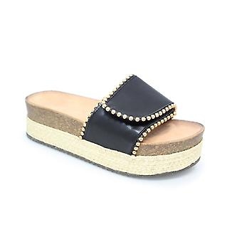 Lollyfox Carrie Wedge Slip On Sandal