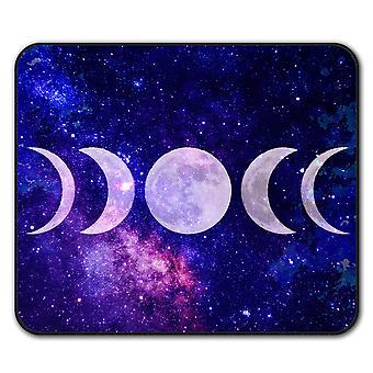 Moon Phases  Non-Slip Mouse Mat Pad 24cm x 20cm | Wellcoda