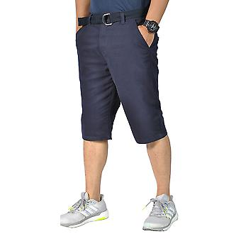 Mens Relaxed fit Belted Casual chino shorts Navy