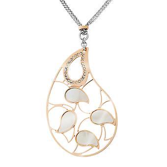 Orphelia plata 925 collar cadena doble hoja Bicolor con fregona y Zirc ZK-7164