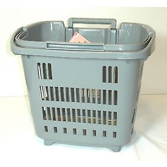 Grey Rolling Shopping, Laundry Basket